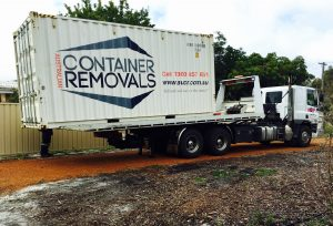 Australian Container Removals Shipping Container Delivered by Tilt Tray Truck